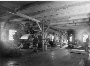 November 2016. Varde Krølhårsfabrik Interiør ca. 1955