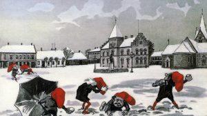 December 2016. Nisser på Torvet ca. 1910